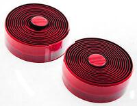 FSA GRT Drop Bar Bike Handlebar Tape w/ Plugs Cork / Gel Red New In Box