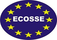 Ecosse Euro oval self adhesive sticker decal Scotland Europe 12.5cmx9cm