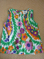 Mini Boden Floral Sleeveless Girls' T-Shirts, Top & Shirts (2-16 Years)