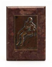 ART NOUVEAU FRENCH BRONZE VITTEL PLAQUE DESK WEIGHT c.1900