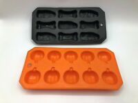 Silicone Halloween Pumpkin Severed Finger Bone Ice Cube Mold Tray Lot Of 2 N8