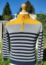 TOMMY HILFIGER BOYS SMALL 8-10 YRS HIGH NECK ¼ ZIP JUMPER FREE POSTAGE!