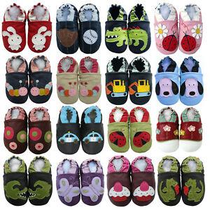 Carozoo bébé DEWH chaussons soft sole leather kid shoes cuir prewalker cribs