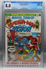CGC 8.0 Marvel Comics MARVEL TEAM UP #5 Vision SPIDER MAN Puppet Master MCU !!!