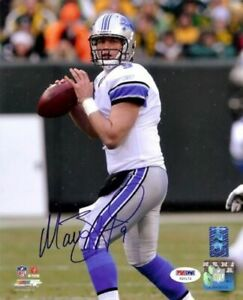 MATTHEW STAFFORD AUTOGRAPHED SIGNED 8X10 PHOTO DETROIT LIONS PSA/DNA 50459
