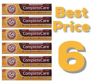 6 Lot Arm & Hammer Complete Care Toothpaste Fresh Mint 6oz Mentadent Baking Soda