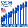 CAT5e Ethernet Cable Lan Computer Network CAT5 RJ45 Internet Blue Patch Cord LOT