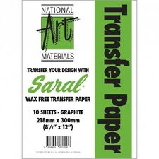 Saral Wax Free Transfer Paper Pack 10 Sheets Graphite .