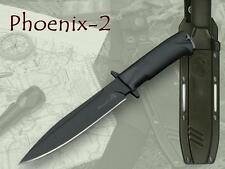 Kizlyar Phoenix 2 Military Fixed Black Blade & Handle Russian Knife Z60, Sheath