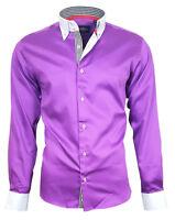 Herrenhemd Herren Hemd Satin Baumwolle Binder de Luxe 80807 Lila M - 3XL shirt