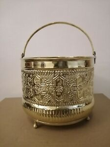 Bucket for Moroccan Bathroom Brass copper handmade authentic Large size Fez