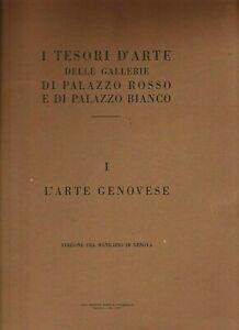 RARITA' GENOVA  I TESORI D'ARTE ORIGINALE 1935 PALAZZO ROSSO E BIANCO