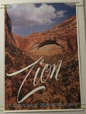 Zion Vintage Travel Poster 1960's Looart #905 60's National Park The Great Arch