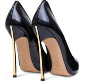 Sexy Women's Pointed Toe Super High Heel Classic Pumps Shoes Patent Leather 8.5