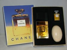Vintage 1997 CHANEL No 5 Voile Parfume 1.2 fl.oz Mini Parfum Bar Soap Set NWB