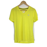 Adidas Ultimate Tee Shirt Womens Sz L Large Yellow Short Sleeve V Neck SS13
