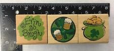 3 Canadian Maple Rubber Stamps St Patricks Day Irish Beer Clover Pot of Gold NEW