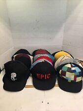 Vintage lot 15 of Adjustable Trucker Hats Caps Used Clean Lids