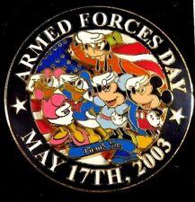 Disney Armed Forces Day 2003 FAB 5 Mickey Minnie Donald Daisy Goofy LE 2500 Pin!
