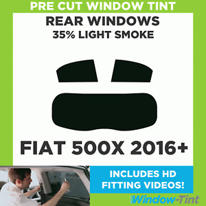 Pre Cut Window Tint - Fiat 500X 2016 35% Light Rear