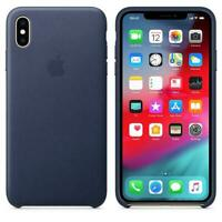 Genuine / Original Apple iPhone XS Max Leather Case - Midnight Blue - New