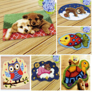 Latch Hook Rug Making Kit  Yourself  Beginners Craft  Embroidery Kits for Home