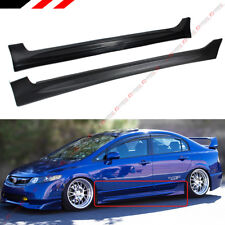 FOR 2006-2011 HONDA CIVIC 4 DOOR SEDAN MUG RR STYLE SIDE SKIRT EXTENSION PANEL