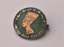 Vintage United Arab Airways pin badge Airline Squire