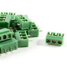 20 Pz 3 Pin 5 millimetri passo su PCB vite morsettiera AC 250V 8A Q9I2