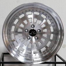 One 19x11 JNC 046 5x114.3 25 Silver Machine Face Wheel New