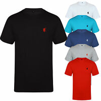 NEW MENS T SHIRT SHORT SLEEVE DESIGNER STYLE CREW NECK CASUAL FIT TEE HORSE POLO