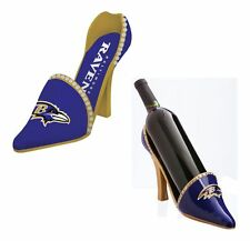 Baltimore Ravens Decorative Shoe Wine Bottle Holder [NEW] NFL Glass CDG