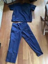 New listing mens navy blue Carhartt Scrub top Xl