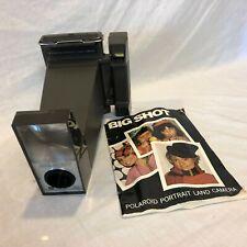 Vintage década de 1970 Polaroid Big Shot retrato tierra cámara Manual de películas instantáneas Warhol