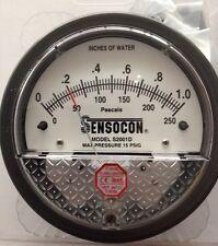 Sensocon Pressure Gauge 0-250PA/0-1 In w.c. alternative to Dwyer Magnehelic
