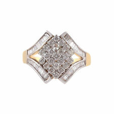 Pave 1,20 Cts Runde Brillant Cut Natürlichen Diamanten Ring In Solides 14K Gold