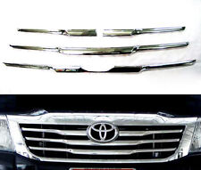 TOYOTA HILUX VIGO CHAMP MK7 12 PICK UP CHROME LINE FRONT GRILL GRILLE COVER TRIM