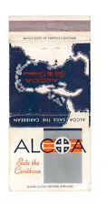 ALCOA SAILS THE CARIBBEAN MATCHBOX LABEL ANNI '50 MARINA AMERICA