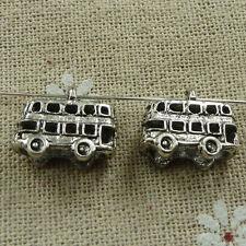 Free Ship 160 pieces tibetan silver school bus charms 16x14mm #838
