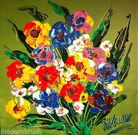 FLOWERS MARK KAZAV  Modern  Original Painting  Stretched  u456u7