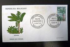 MADAGASCAR  465   PREMIER JOUR FDC       FRUITS BANANE         5F       1969
