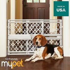 North States MyPet Paws Portable Pet Gate Expands & Locks Adjustable