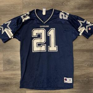 1990's Vintage Deion Sanders Dallas Cowboys Champion Jersey Mens Size 48 (L/XL)
