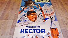 fernandel MONSIEUR HECTOR  ! affiche cinema , ski , chalet montagne