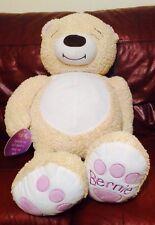 "Bright Inspirations Bear ""Bernie"" PRAY PRAYER Huge 40"" Long Plush Bear"