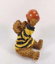 Adorable Vintage Boyds Bears Figurine-Eating Honey Bearware Black Yellow Sweater