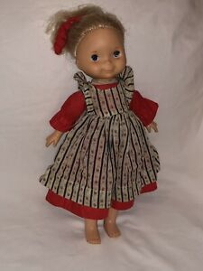 Vintage Rare My Doll by Fisher Price 1976 Red Dress Blond Hair Collector Dolls
