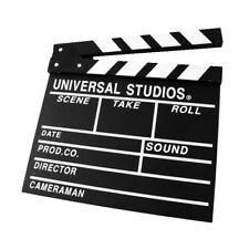 CLAQUETA cine UNIVERSAL STUDIOS en Madera 30X27,5 Cm. Video, bodas, eventos
