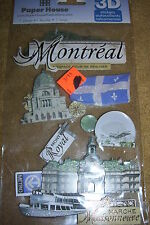 PAPER HOUSE 3D STICKERS,MONTREAL, STDM-0167, NEW
