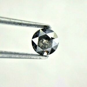 Natural Real Diamond 0.51TCW 4.8MM Black Gray Mix Round Rose cut for Mother Gift